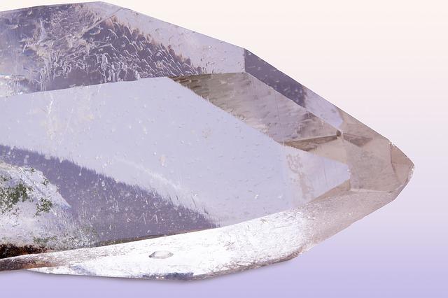 péndulo de cuarzo cristal