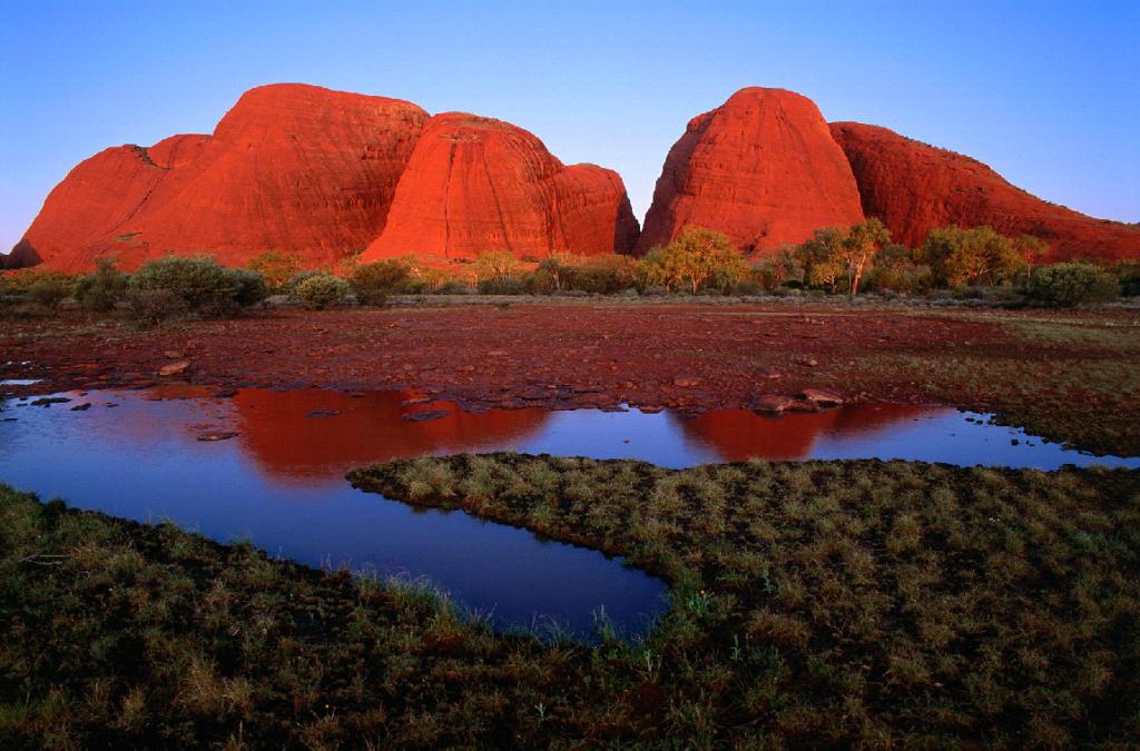 El monte Urulu, Australia,uno de los puntos de concentración de energía de la tierra