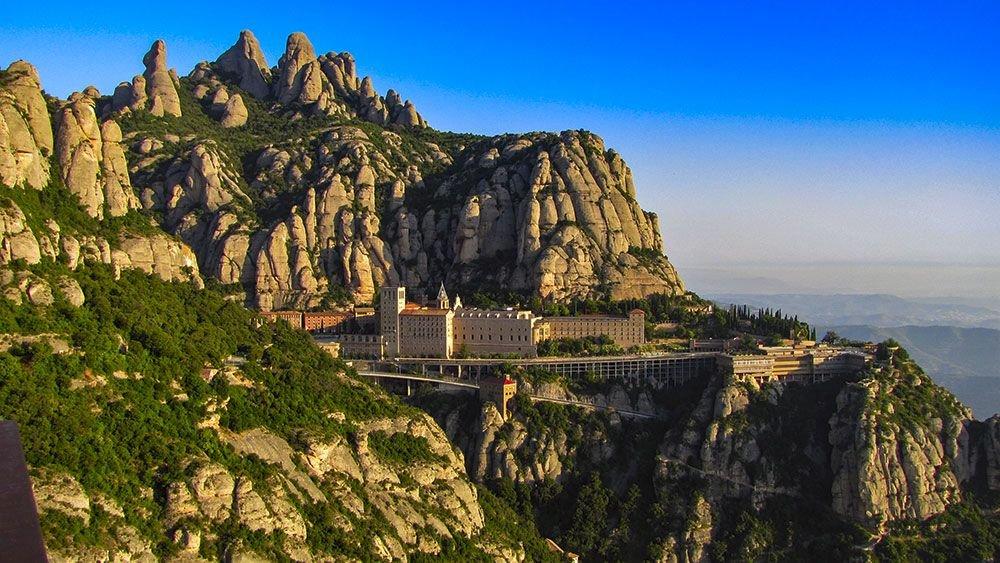 La montaña Monserrat en Cataluña
